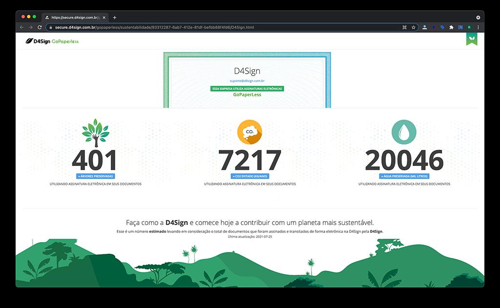 Selo de Sustentabilidade Digital